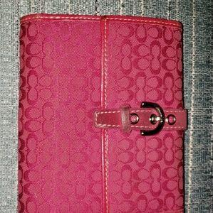 Hot pink coach wallet